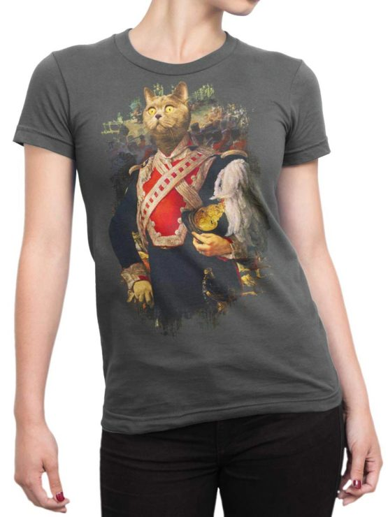 0012 Cat Shirts Colonel Cat Front Woman