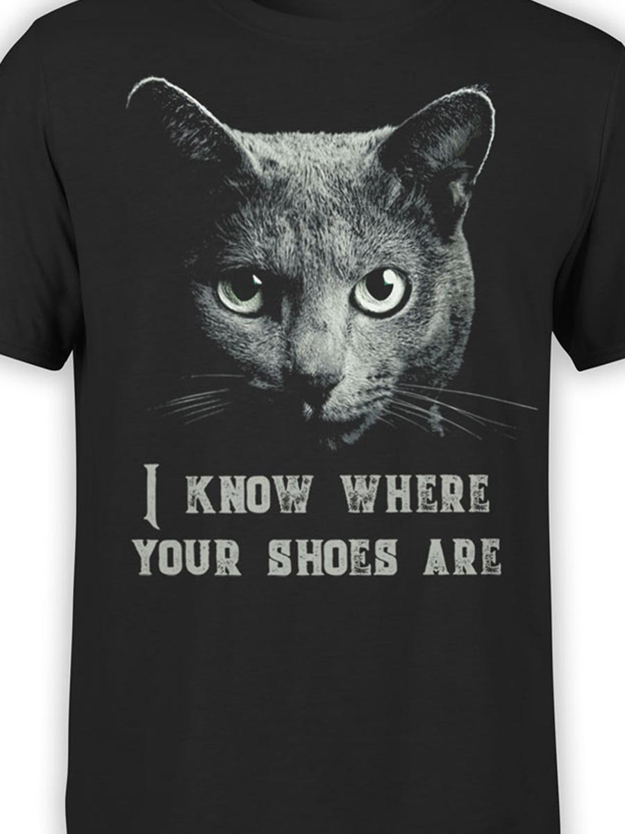 0026 Cat Shirts Threat Front Color