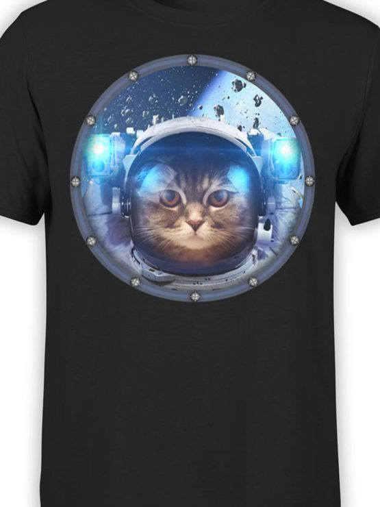 0030 Cat Shirts Space Cat Front Color