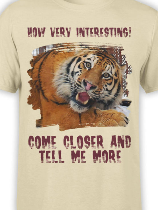 0081 Tiger Shirt Very Interecting Front Color