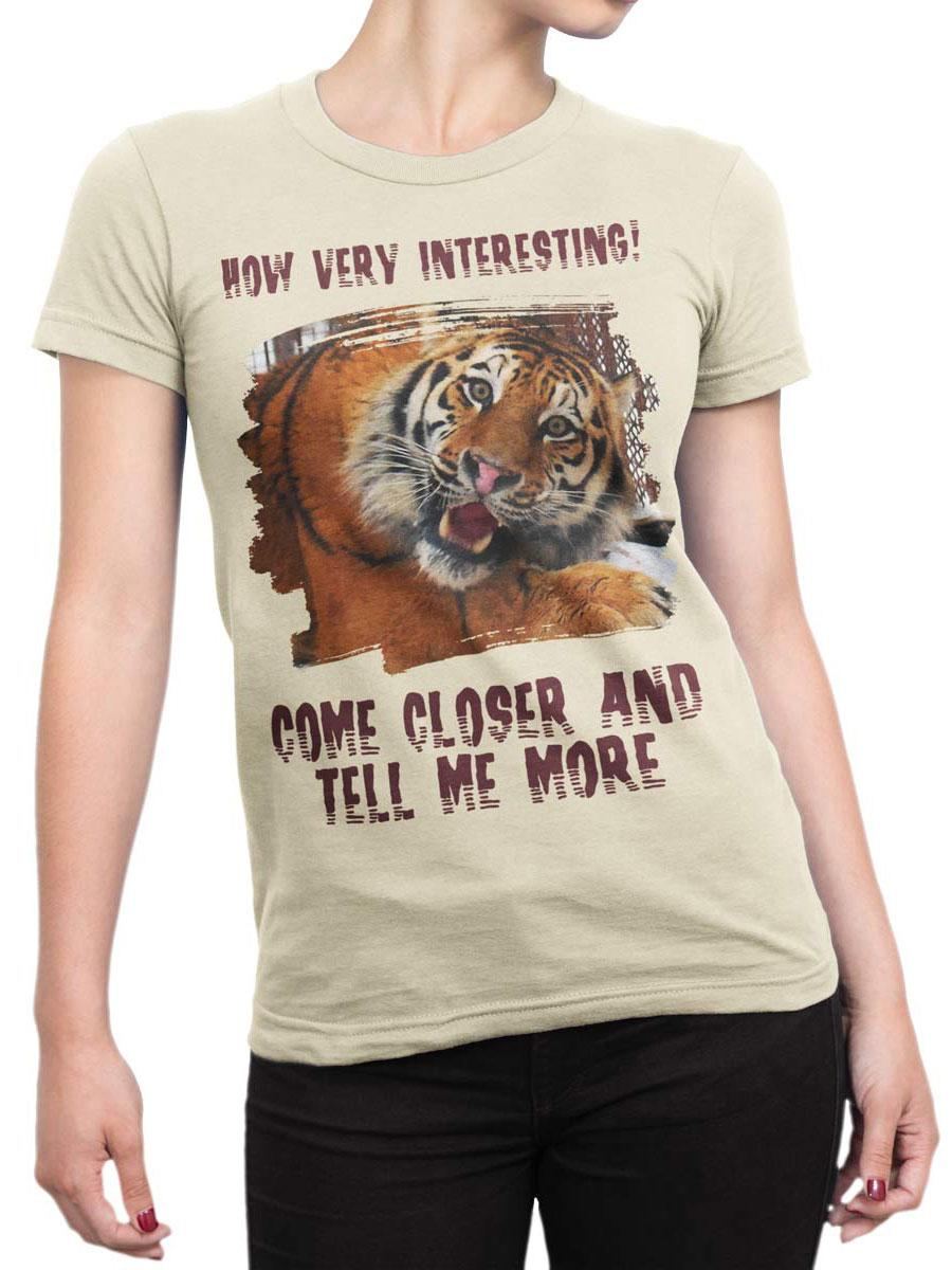 0081 Tiger Shirt Very Interecting Front Woman