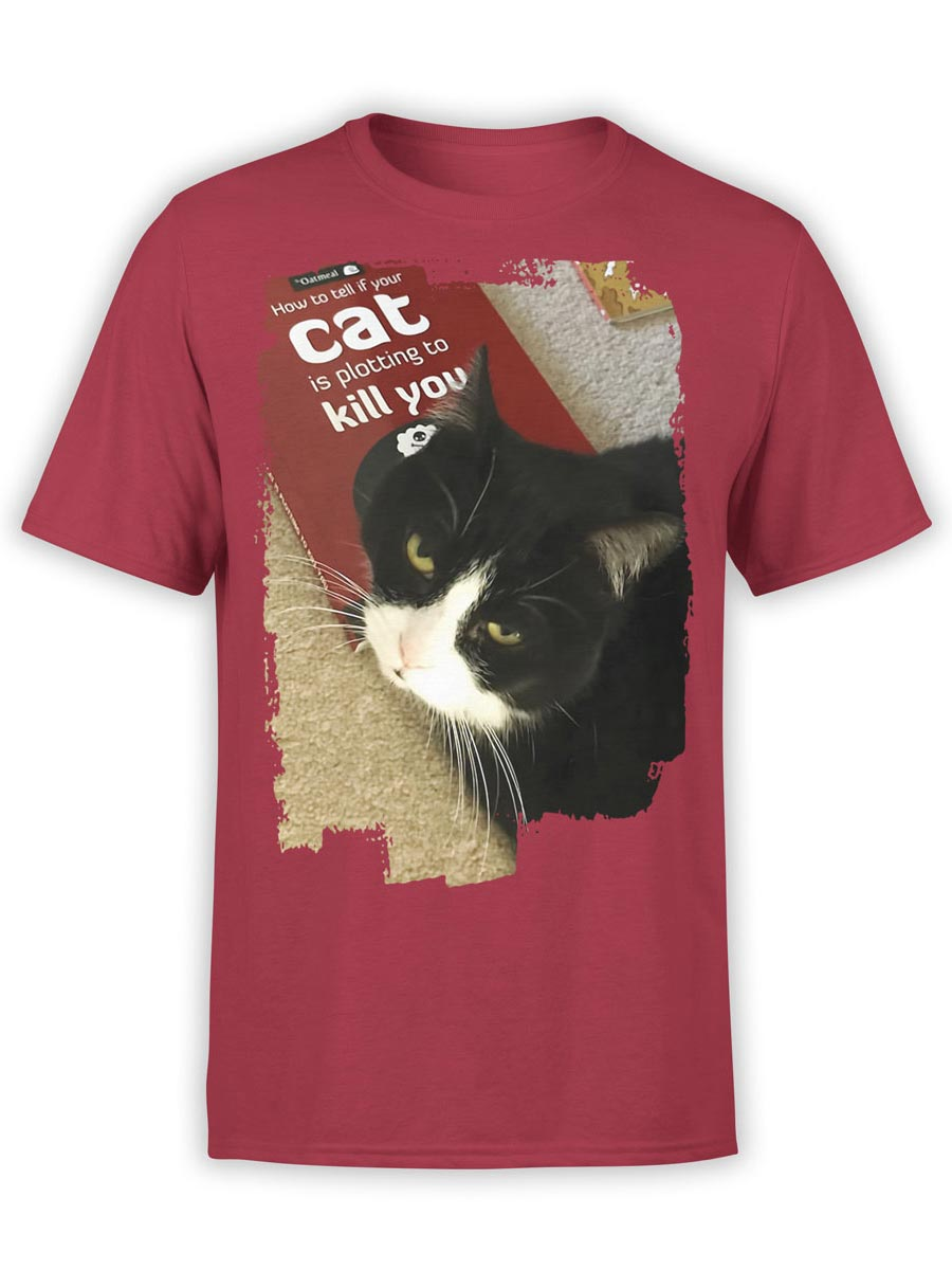 0157 Cat Shirts Killer Front