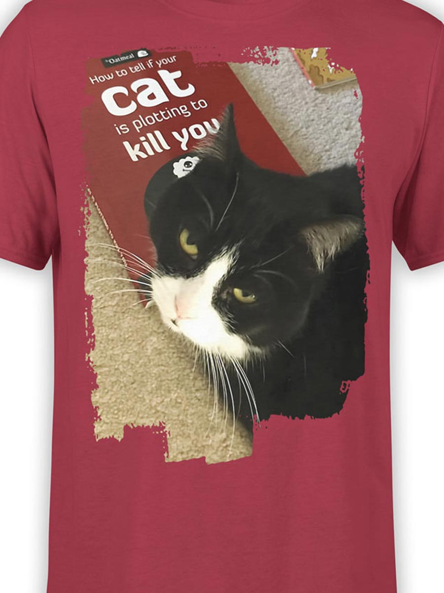 0157 Cat Shirts Killer Front Color