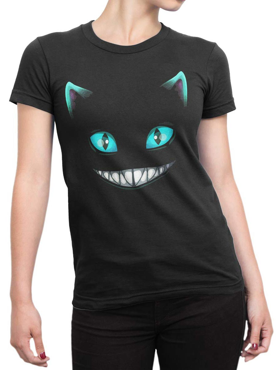 0165 Cat Shirts Smile Front Woman