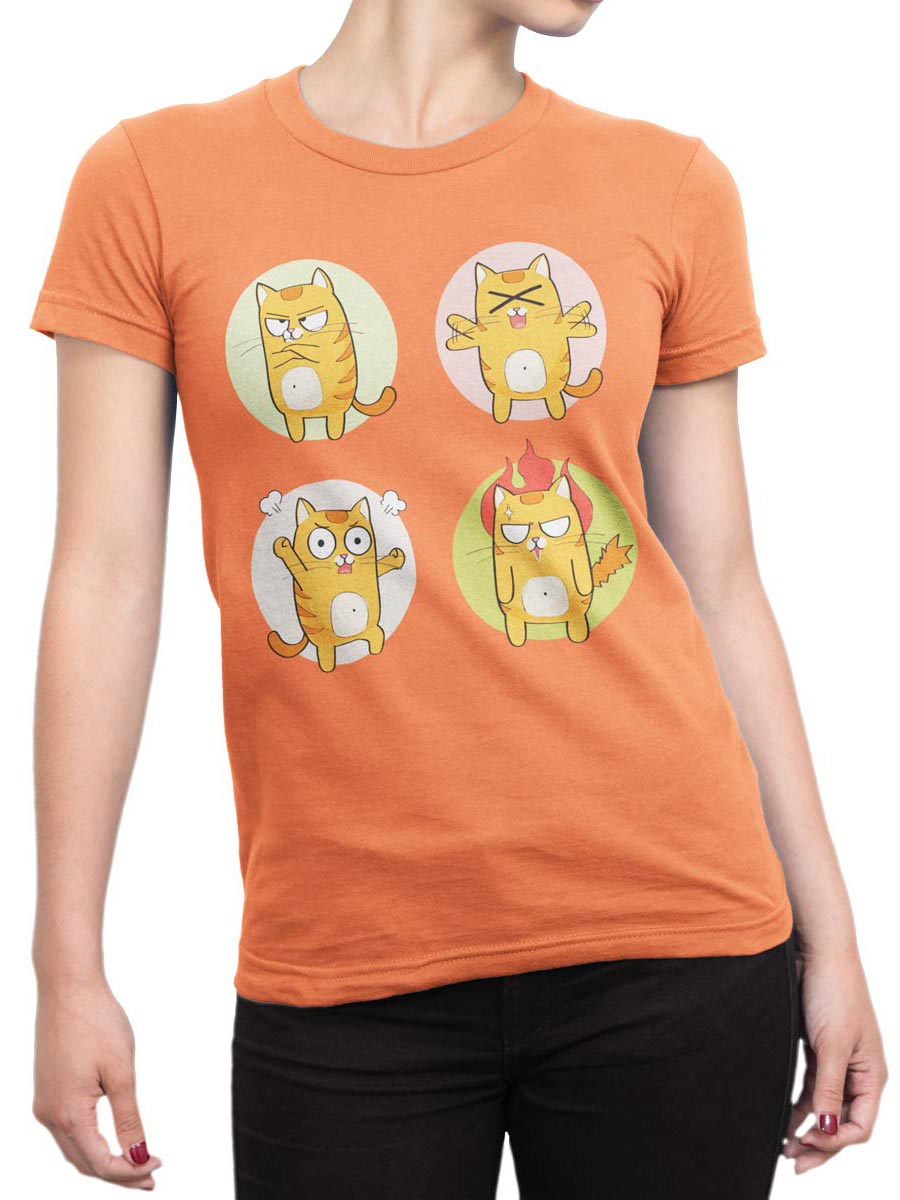 0188 Cat Shirts Emotional Front Woman