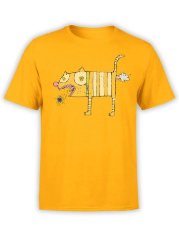 0199 Cats Shirts Love Cats Front Gold