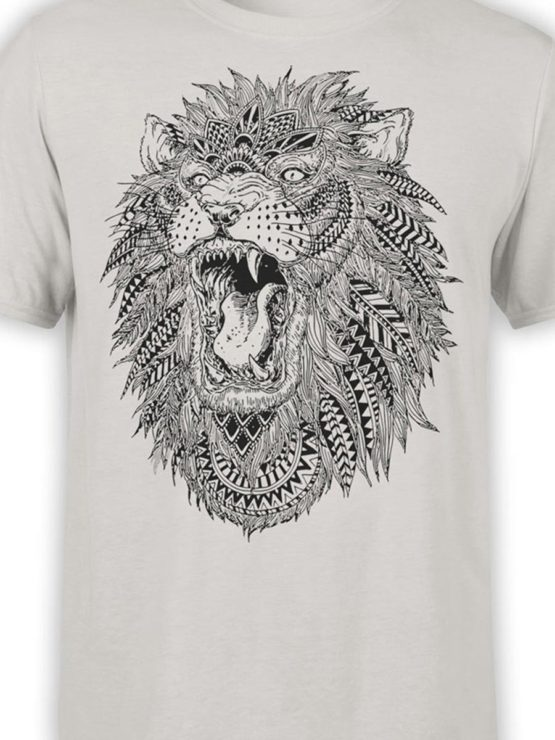 0213 Lion T Shirt Roach Front Color