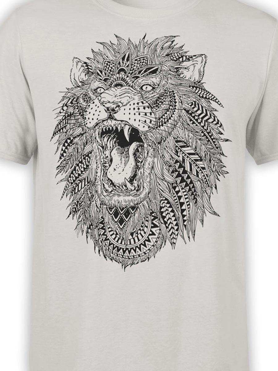 0213 Lion T Shirt Roach Front Color
