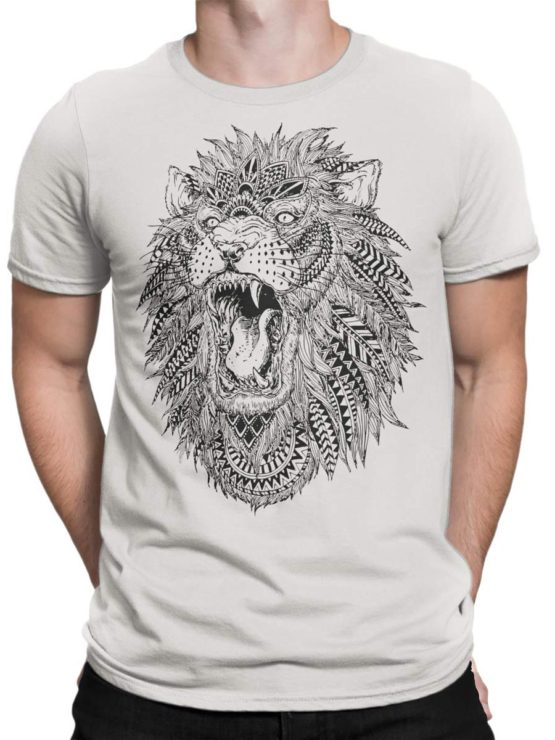 0213 Lion T Shirt Roach Front Man