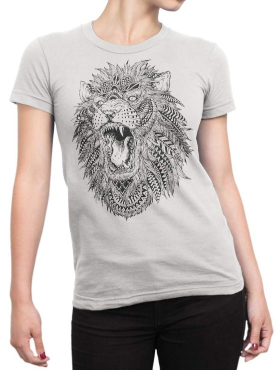 0213 Lion T Shirt Roach Front Woman
