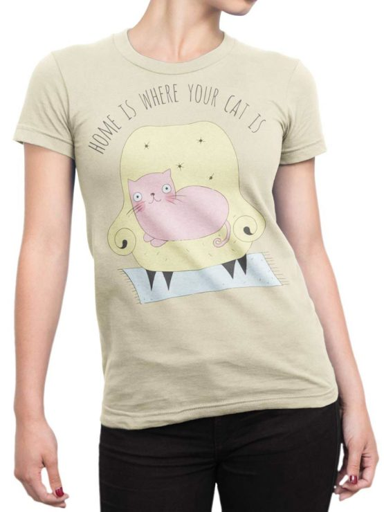 0220 Cat Shirts Home Front Woman