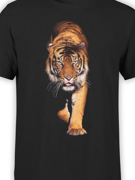 0258 Tiger T Shirt Walk Front Color