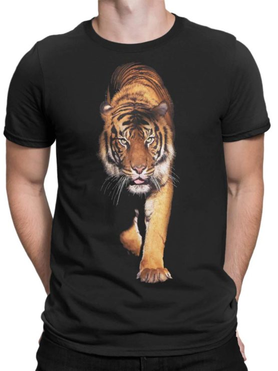 0258 Tiger T Shirt Walk Front Man