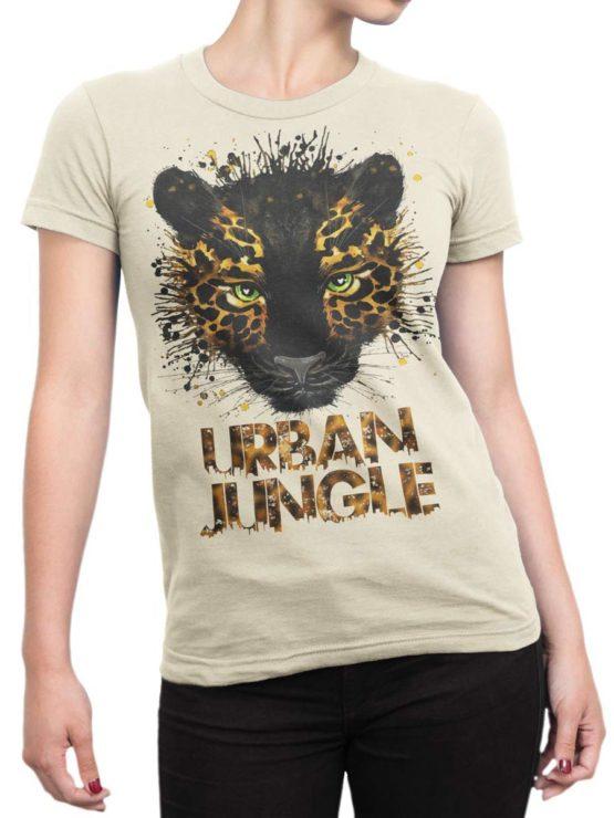 0268 Cat Shirts Jaguar Front Woman