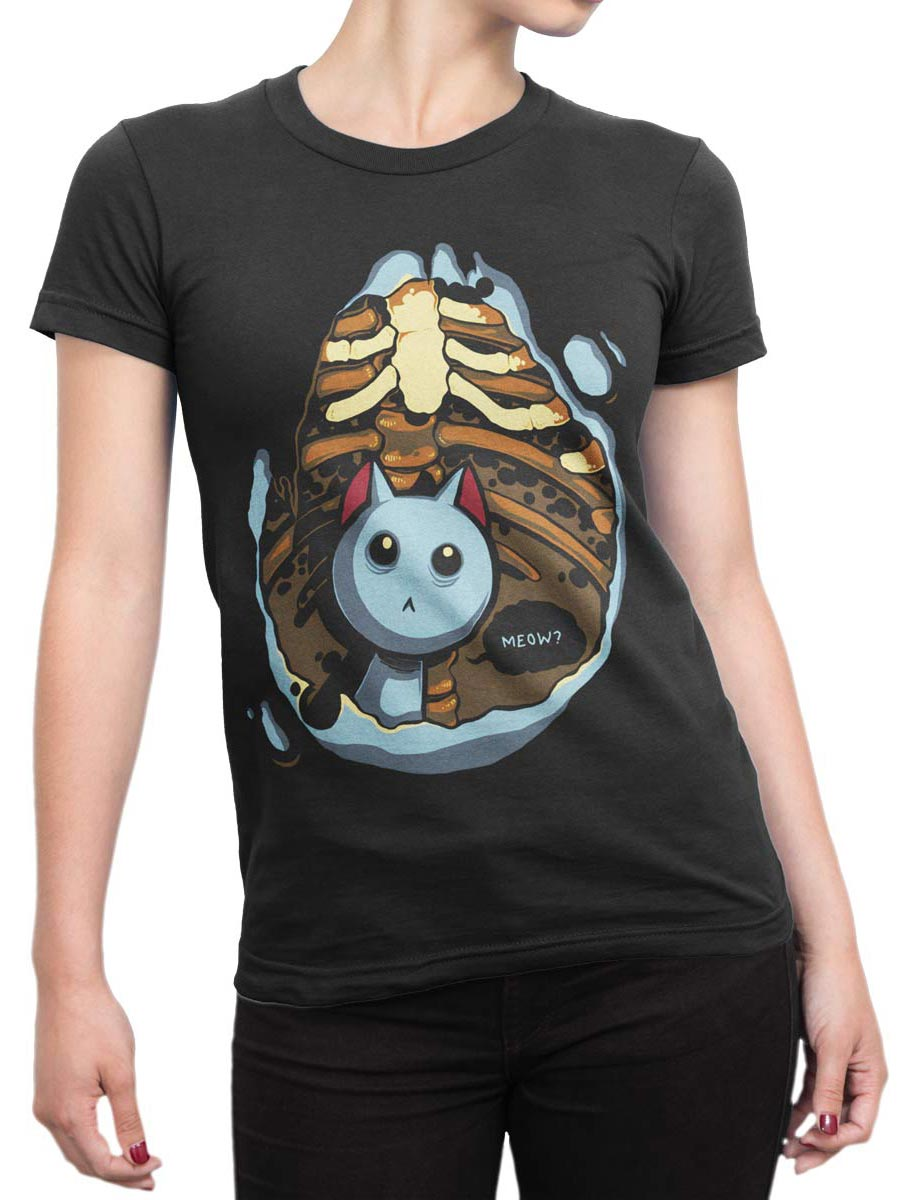 0289 Cat Shirts Kitten Inside Front Woman