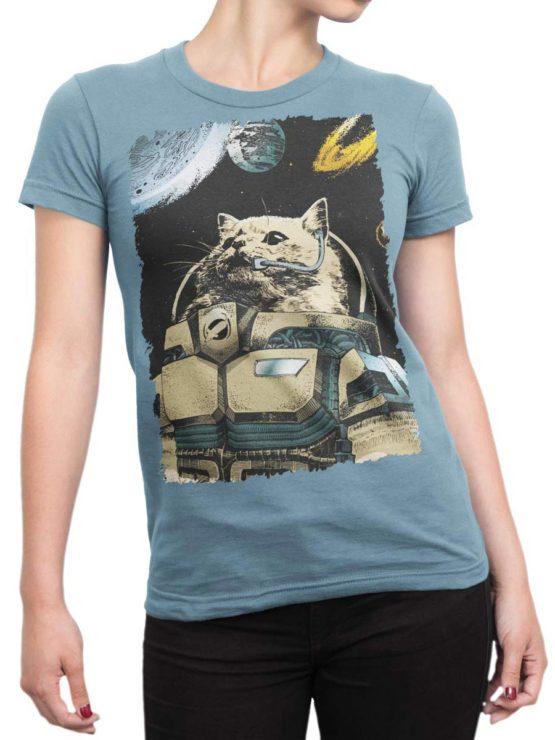 0305 Cat Shirts Cosmocat Front Woman