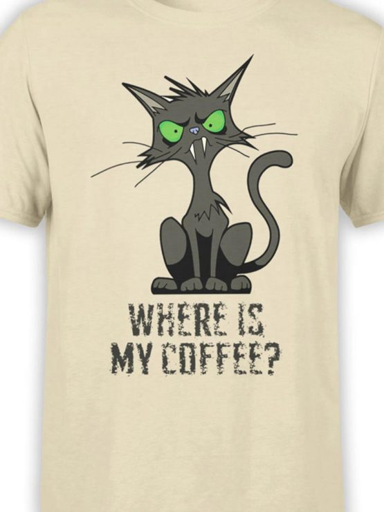 0345 Cat Shirts Coffee Front Color