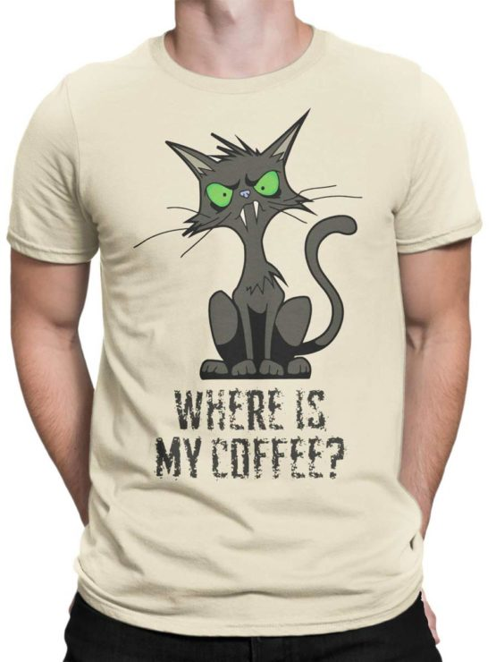 0345 Cat Shirts Coffee Front Man