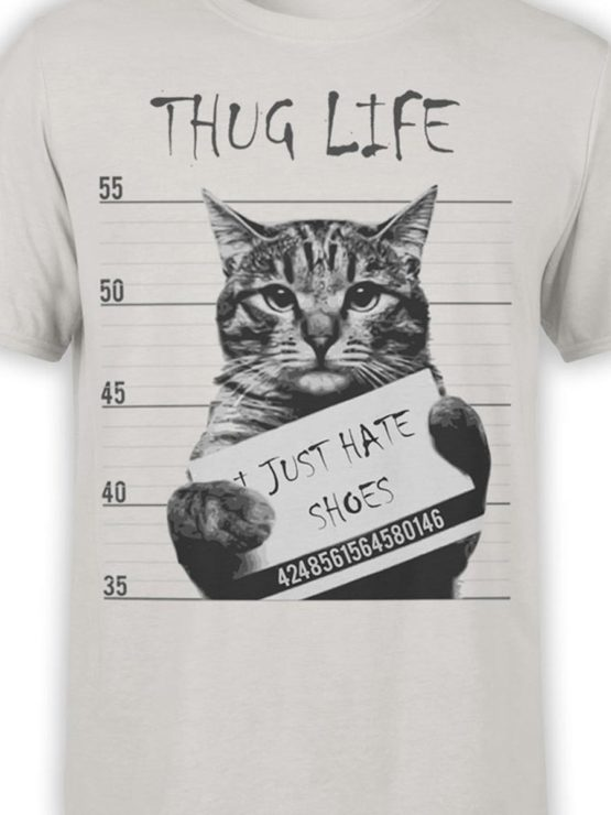 0369 Cat Shirts Thug Life Front Color