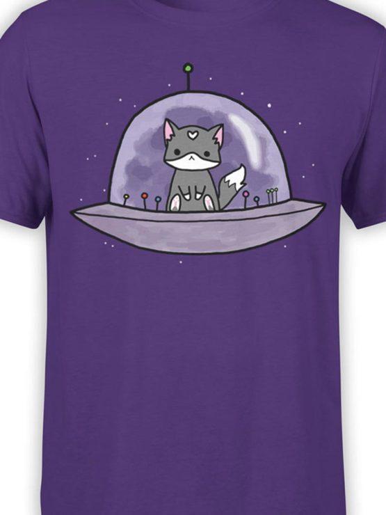0387 Cat Shirts UFO Front Color