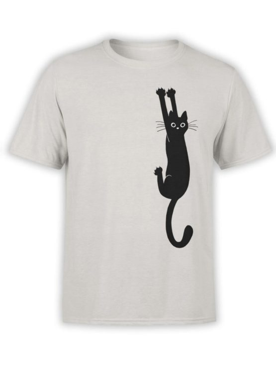 0450 Cat Shirts Hanging Front Silver