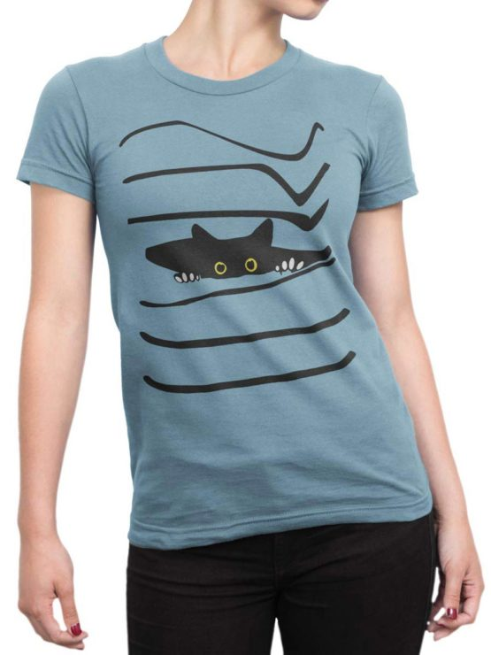 0468 Cat Shirts Spy Front Woman