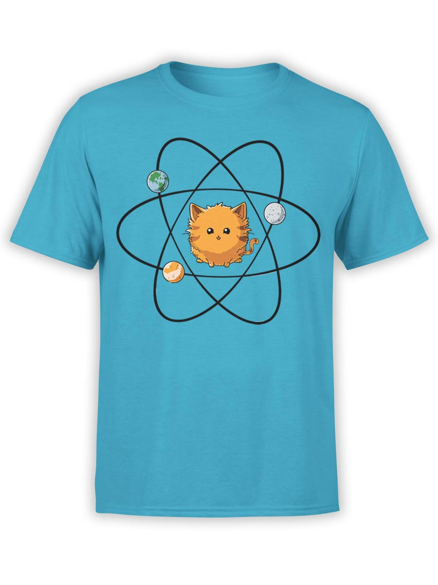 0483 Cat Shirts Sun Front Aqua