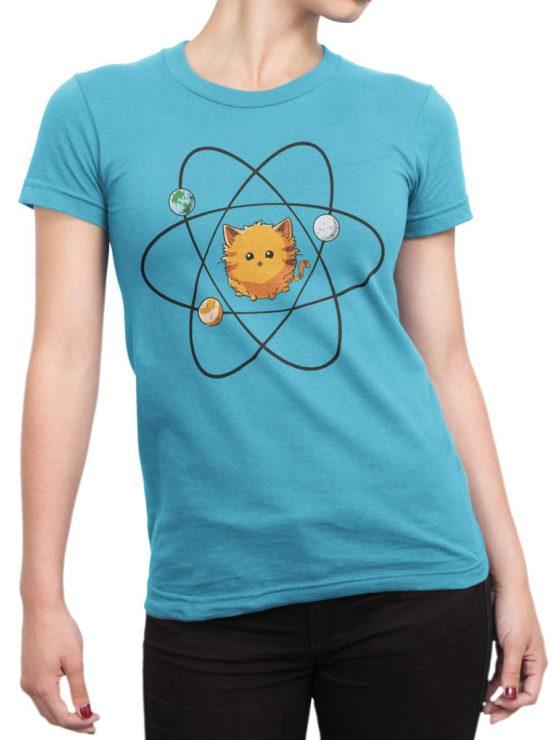 0483 Cat Shirts Sun Front Woman