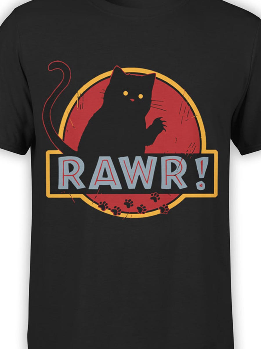 0485 Cat Shirts Rawr Front Color