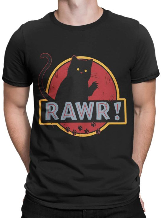 0485 Cat Shirts Rawr Front Man