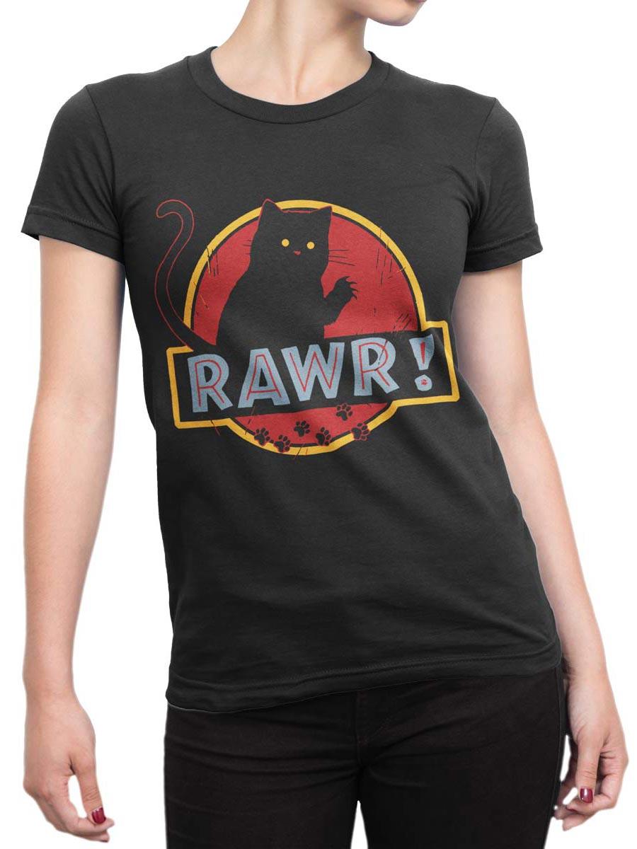 0485 Cat Shirts Rawr Front Woman