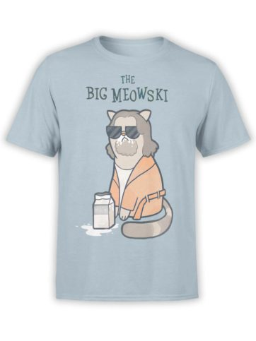 0496 Cat Shirts Meowski Front LightBlue