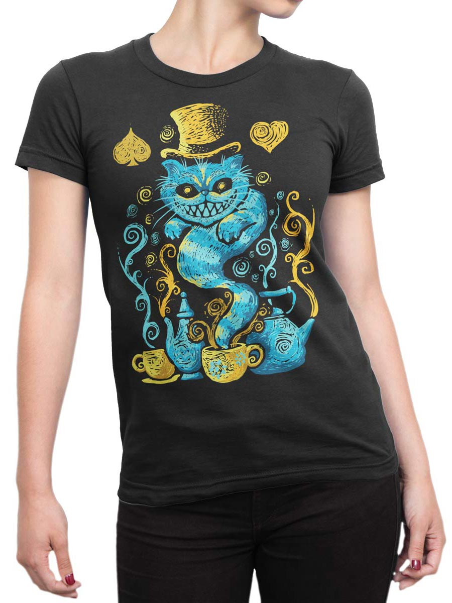 0551 Cat Shirts Mad Front Woman