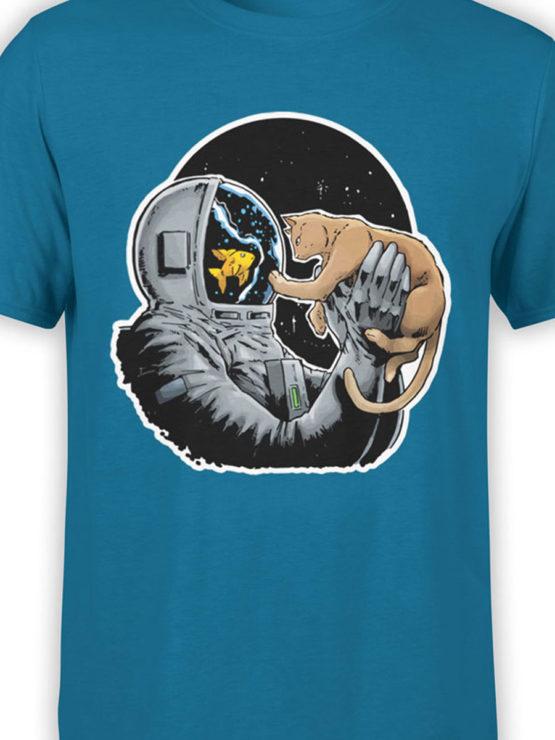0634 NASA Shirt Fish and Cat Front Color