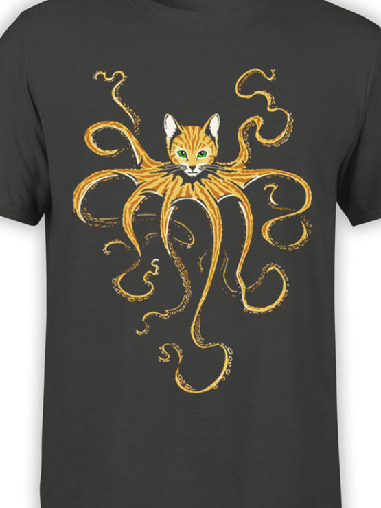 0653 Cat Shirts Octocat Front Color