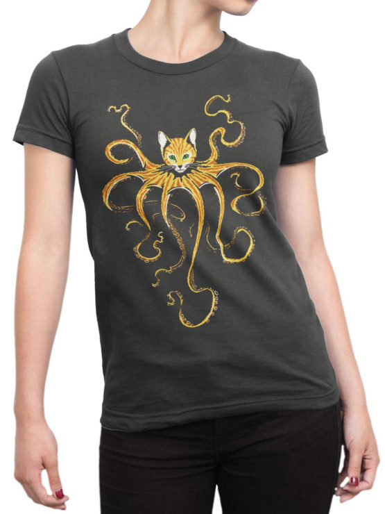 0653 Cat Shirts Octocat Front Woman