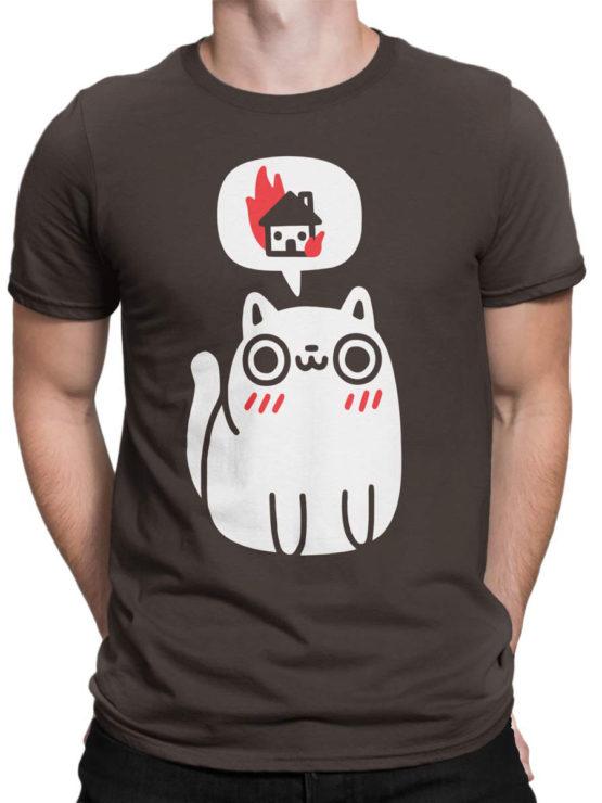 0719 Cat Shirts Burn Front Man