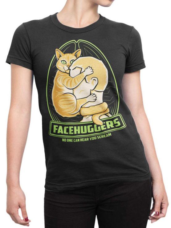 0728 Cat Shirts Scream Front Woman
