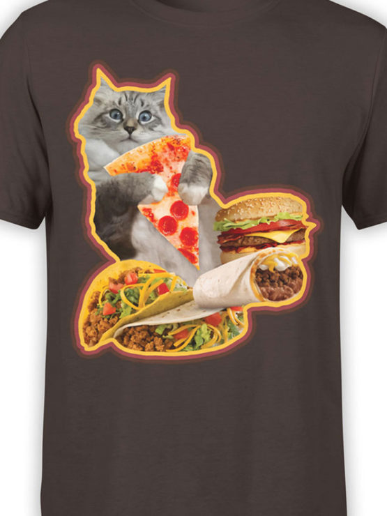 0735 Cat Shirts Hungry Front Color