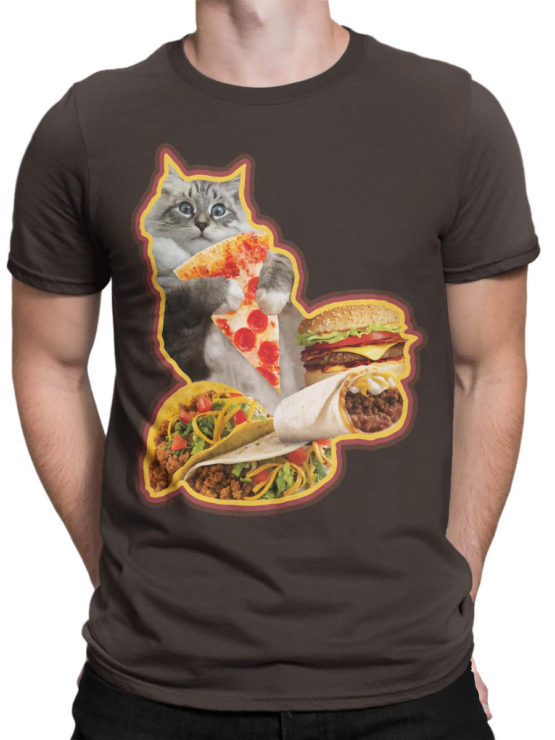 0735 Cat Shirts Hungry Front Man