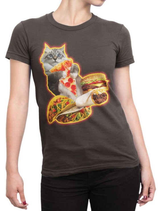 0735 Cat Shirts Hungry Front Woman