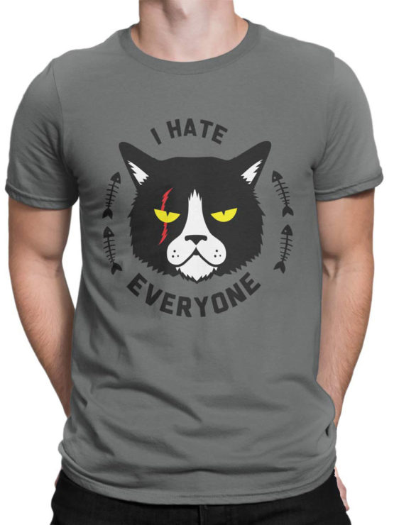 0925 Cat Shirts I hate everyone Front Man