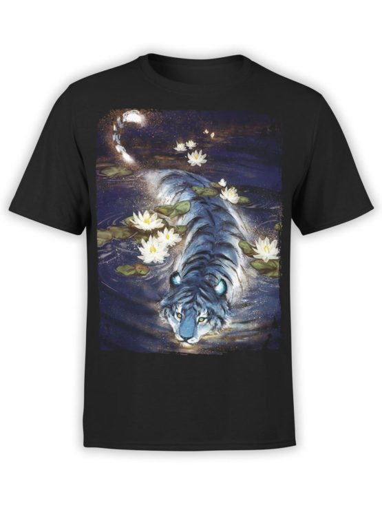 0943 Cool T Shirt Tiger Front