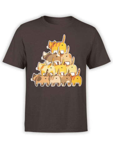 0983 Cat Shirts Butt Pyramid Front